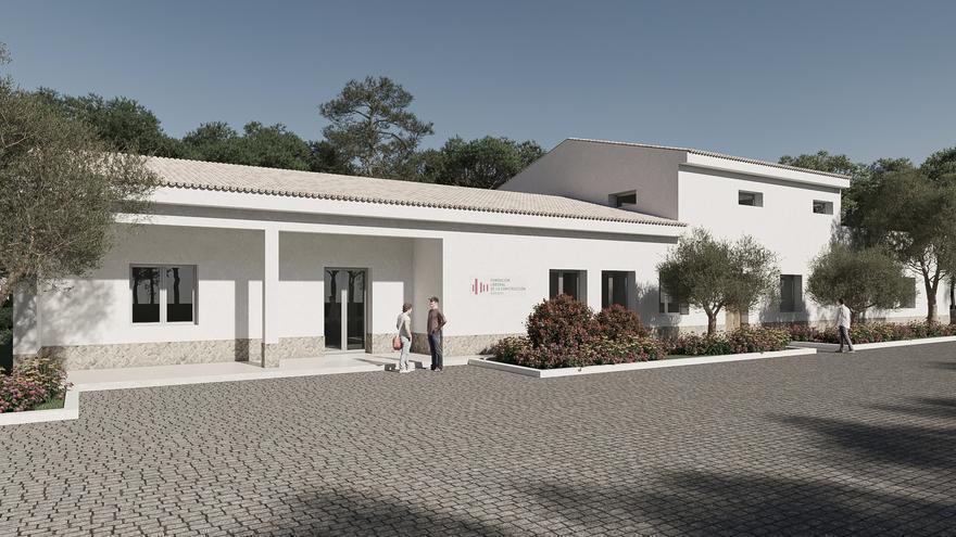 Primera piedra del nuevo centro de formación de Fundación Laboral en Ibiza