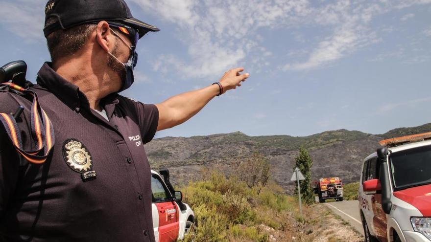 El incendio de la Vall de Gallinera se encuentra estabilizado y sin llamas tras arrasar 158 hectáreas