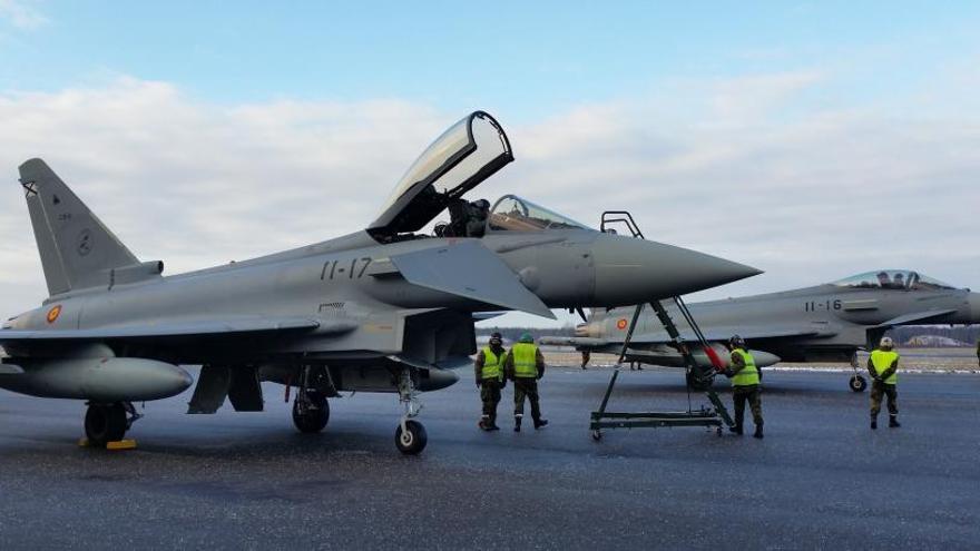 Suspendidos los vuelos de los cazas españoles en Estonia