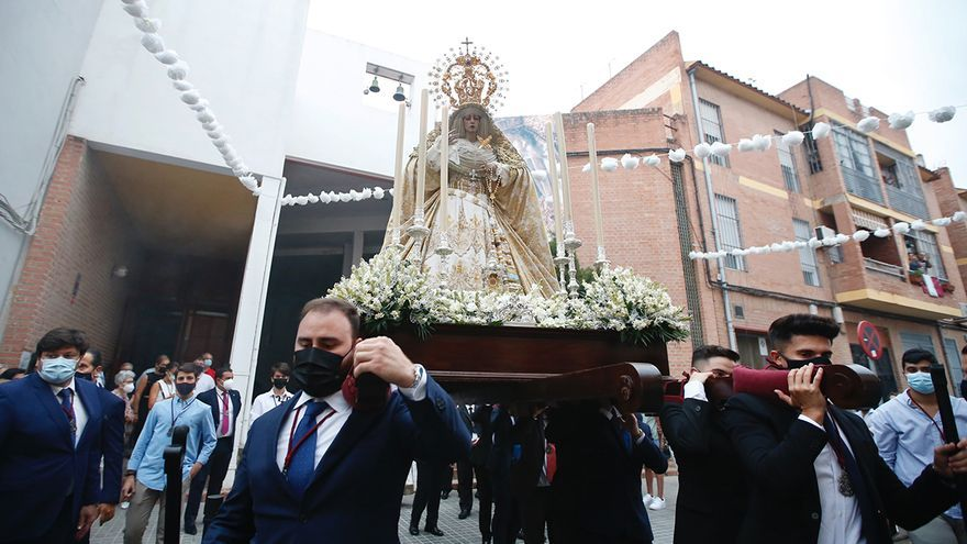 La Virgen de la Estrella, en la primera procesión que sale en Córdoba desde el inicio de la pandemia