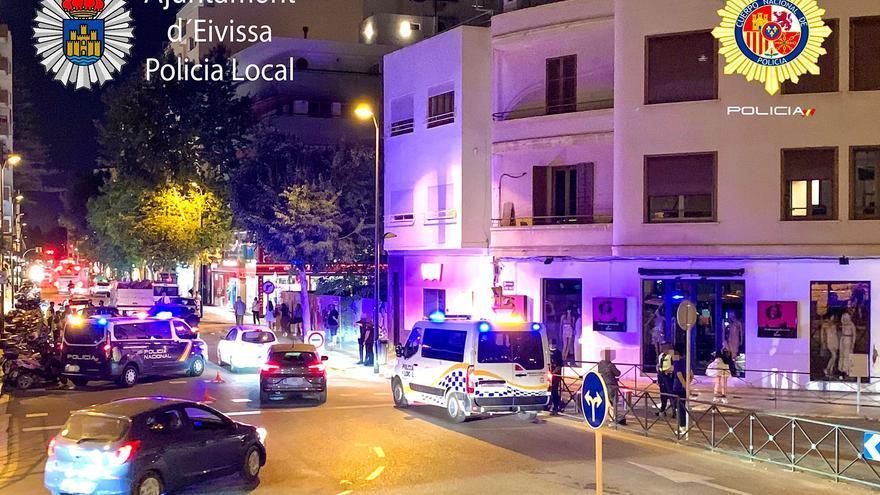 Una noche con tres accidentes de tráfico en Ibiza con conductores borrachos
