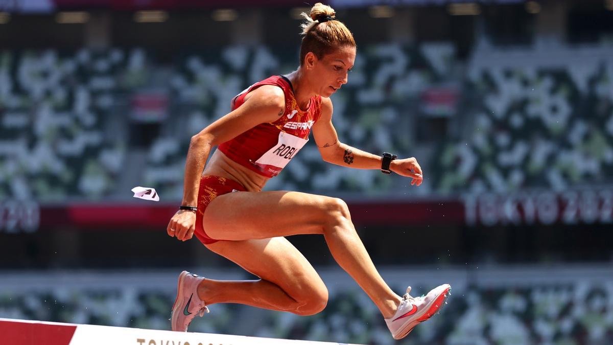 La atleta española, durante la primera ronda en Tokio