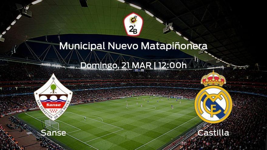 Última jornada de la Primera Fase de Segunda B: previa del duelo Sanse - RM Castilla