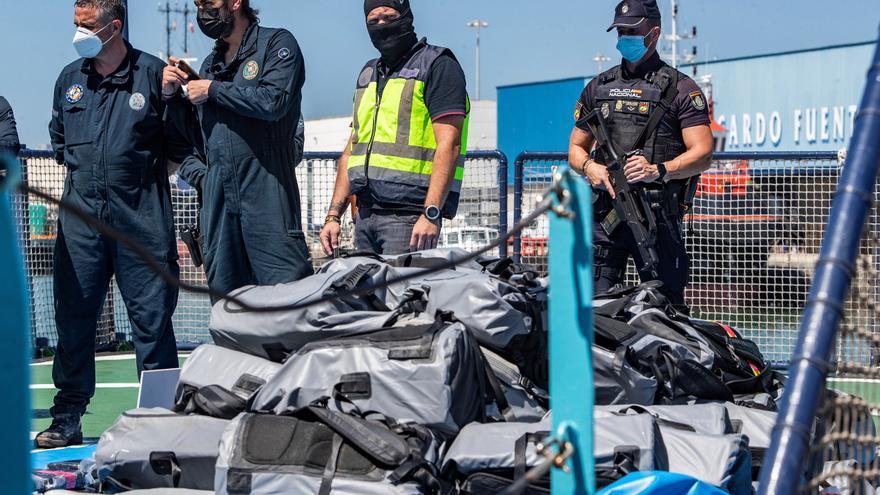Interceptan un velero con una tonelada de cocaína procedente del Caribe