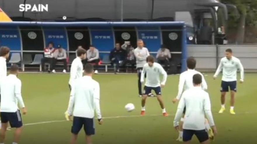 El entrenamiento de la Selección Española, sin Ferran, a tan solo 24 horas de la final