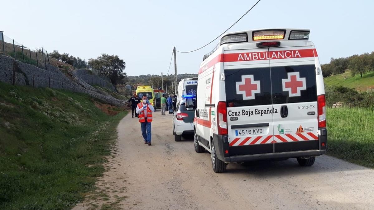 Fallece un hombre de 55 años en un accidente cerca de Oliva de la Frontera