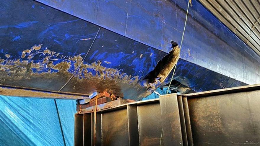 Fred. Olsen prevé reparar el 'Bentago Express' en unos seis meses