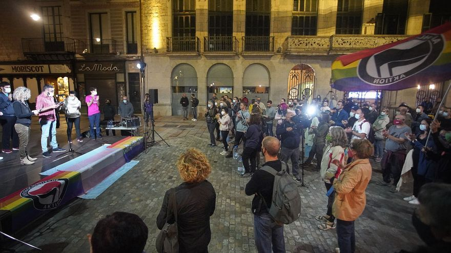Concentració contra l'agressió homòfoba de dijous passat a Girona