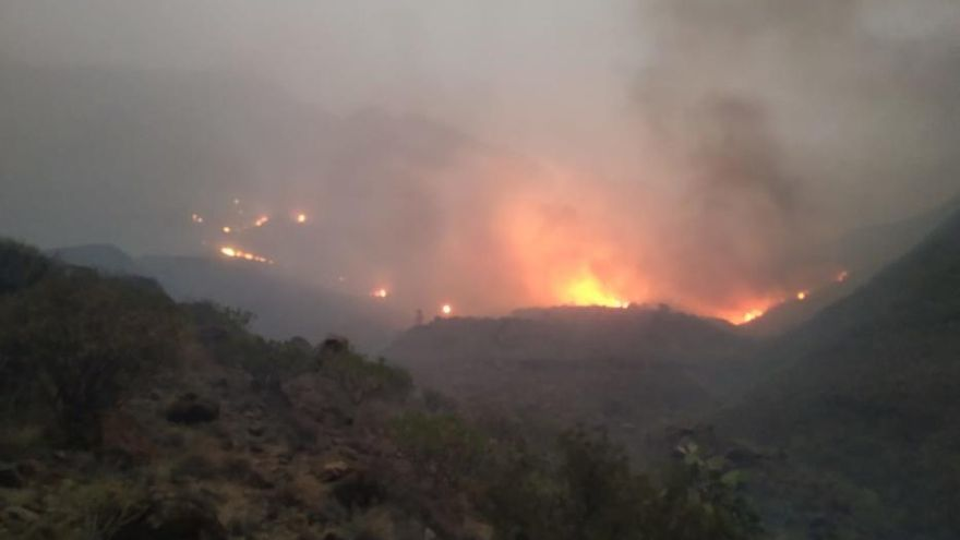 Incendio en Tasarte