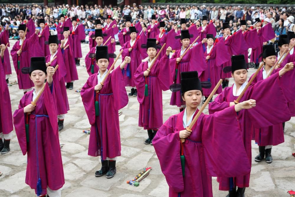 Corea del Sur - El rito real ancestral del santuario de Jongmyo y su música.