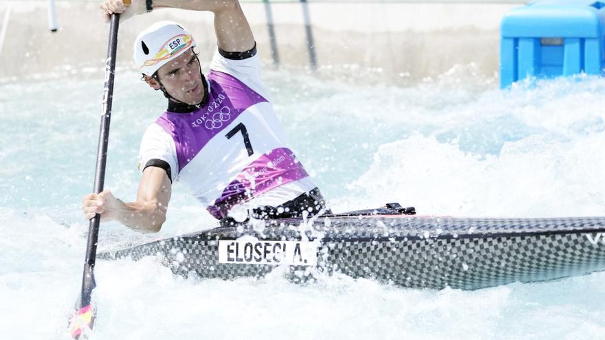 Elosegi se queda sin medalla al terminar octavo en la final de C-1 del piragüismo eslalon