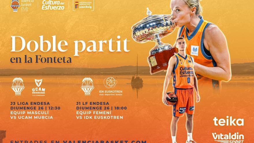 El Valencia Basket pone a la venta las entradas ante el Manresa y el Euskotren