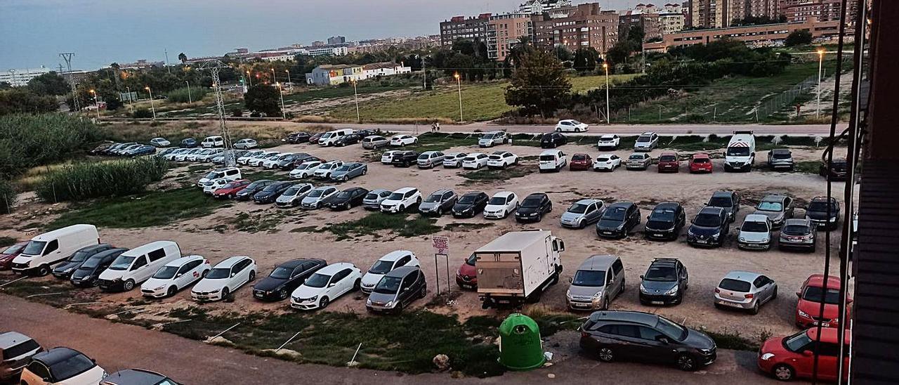 El PAI de Benimaclet, ocupado por huertos urbanos. | GERMÁN CABALLERO