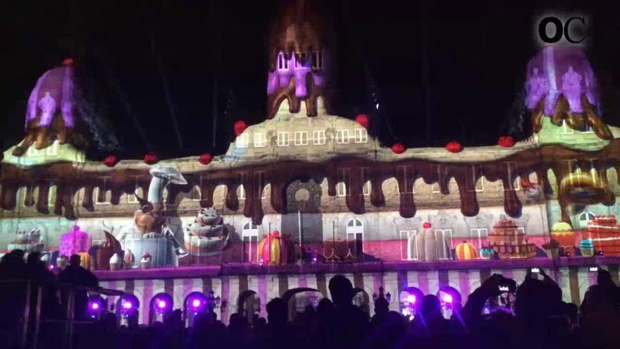 Navidad en A Coruña | Espectáculo de video-mapping en el palacio de María Pita