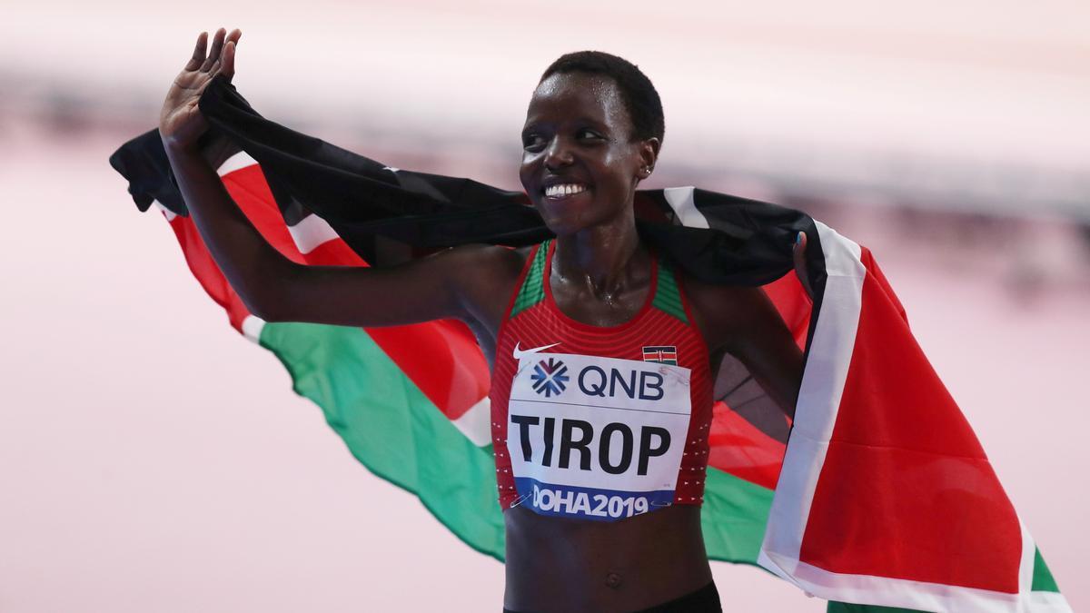 La atleta keniata Agnes Jebet Tirop.