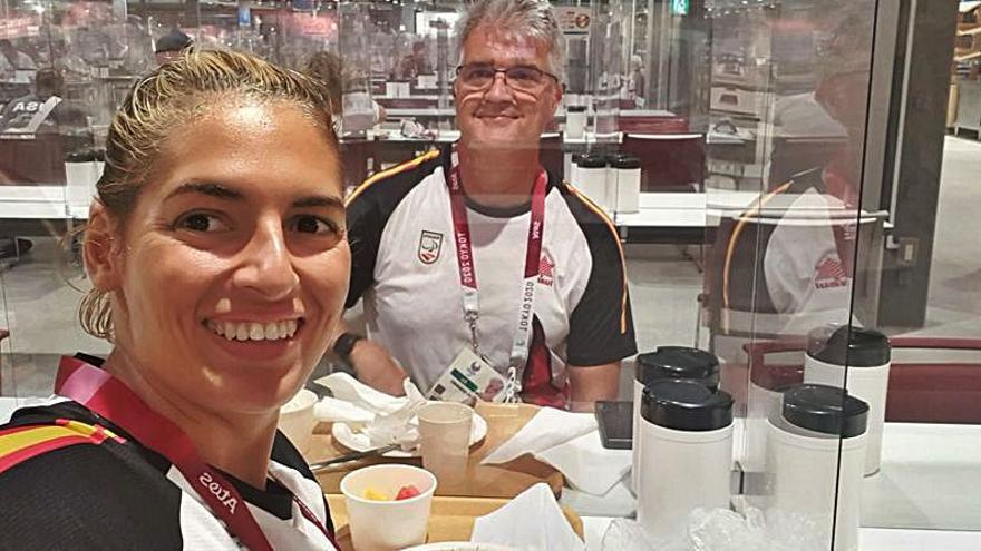 Azarosa primera jornada para Michelle Alonso para llegar a Tokio