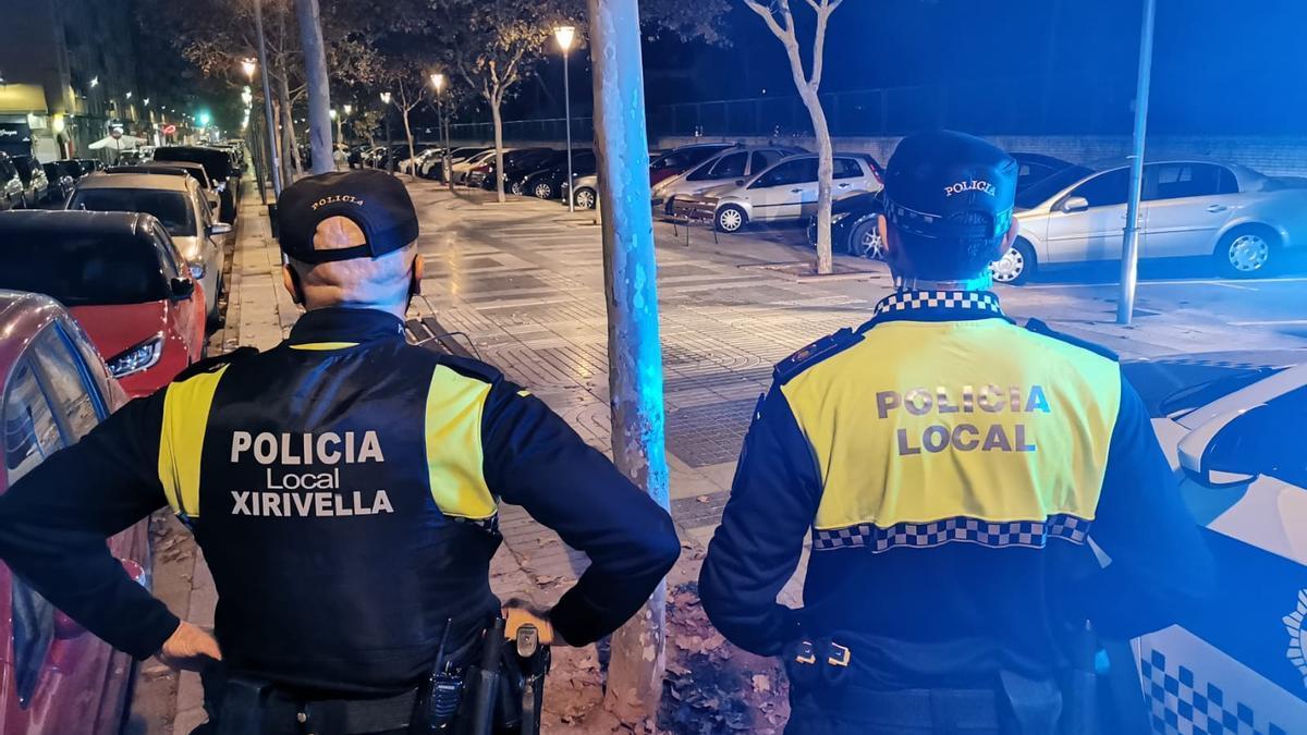 Control policial en Xirivella