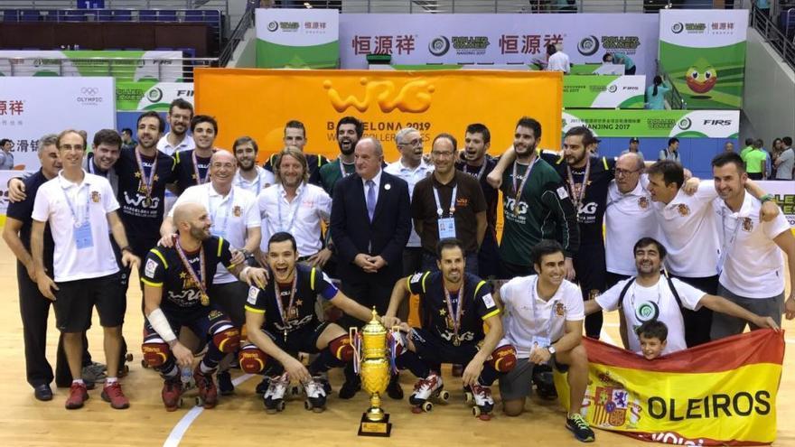 España, campeona del mundo con Eduard Lamas, Ignacio Alabart y Xavi Malián
