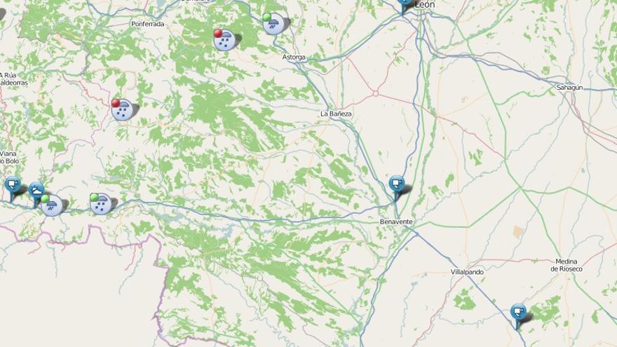 Borrasca Gaetan en Zamora | Problemas para circular en la A-52, en el puerto de Padornelo
