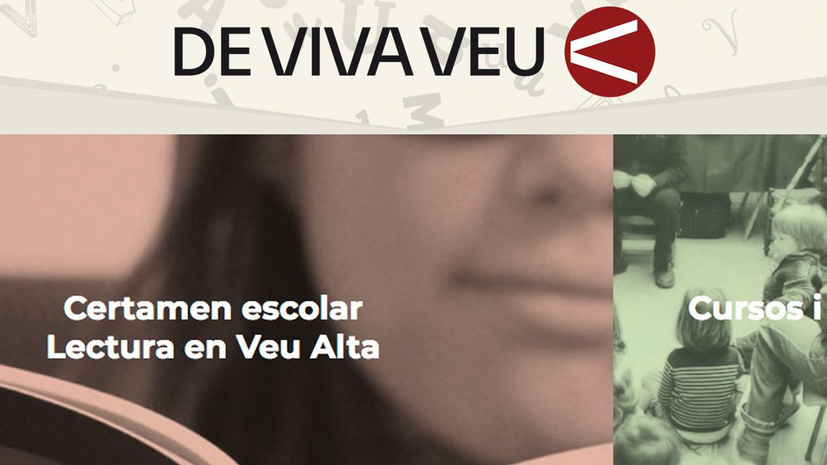 """El cartel de """"De viva veu"""""""