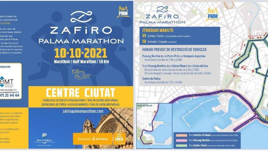 El centro de Palma y el Paseo Marítimo, cerrados al tráfico por el Zafiro Palma Marathon