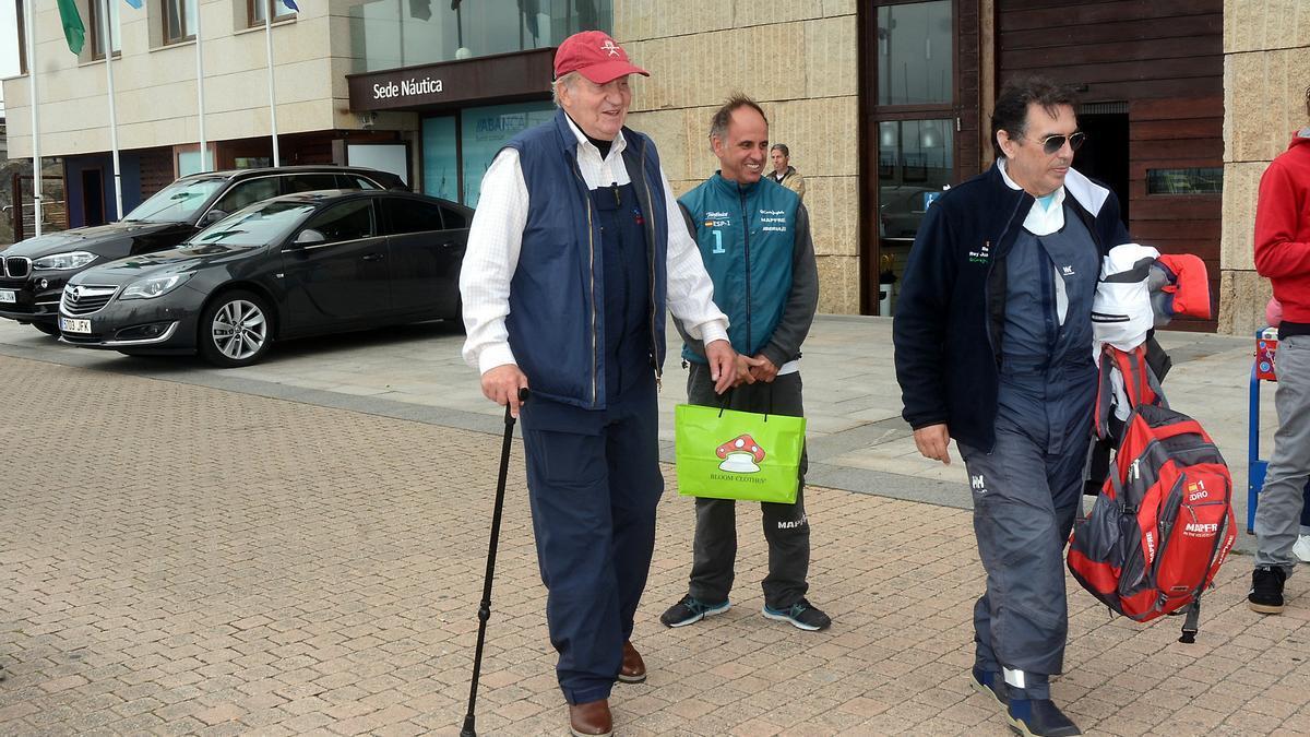 El rey Juan Carlos en una visita a Sanxenxo