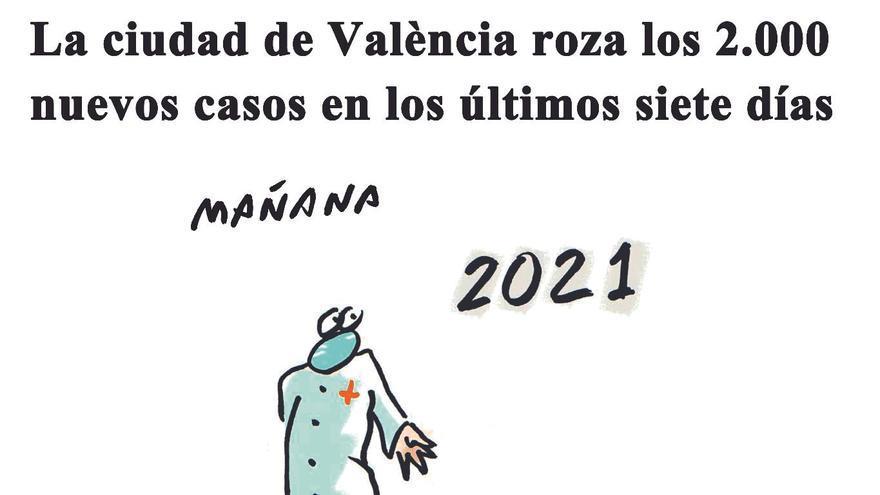 La ciudad de València roza los 2.000 nuevos casos en los últimos siete días