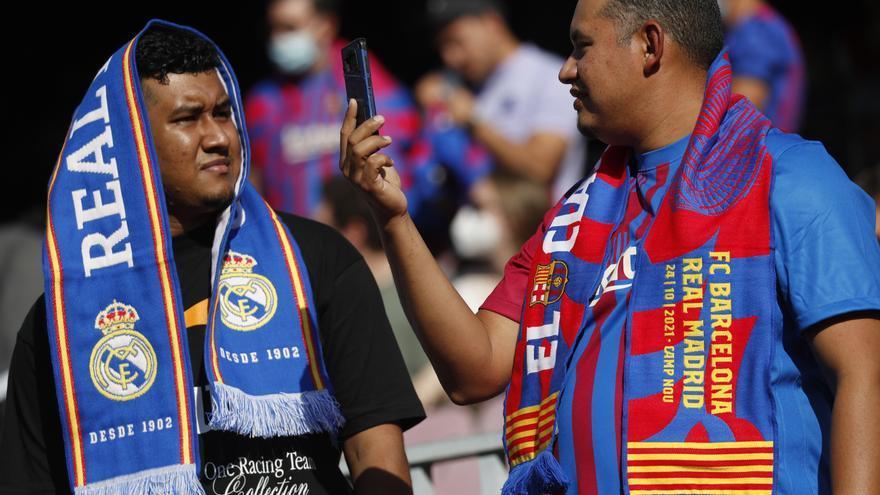 El Madrid llenó el Camp Nou