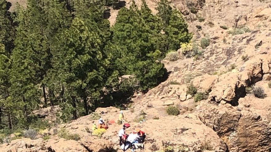 Un escalador resulta herido al caer desde unos 10 metros de altura