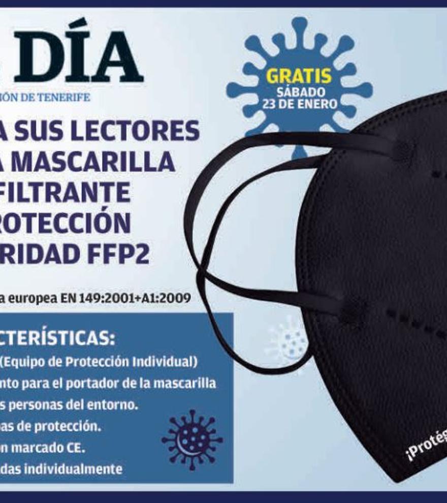 Promoción El Día - Mascarilla autofiltrante de protección y seguridad FFP2