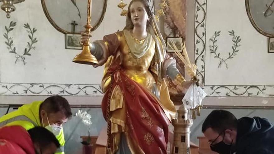 Las obras para restaurar la cubierta de la ermita de Santa Bárbara se inician esta semana