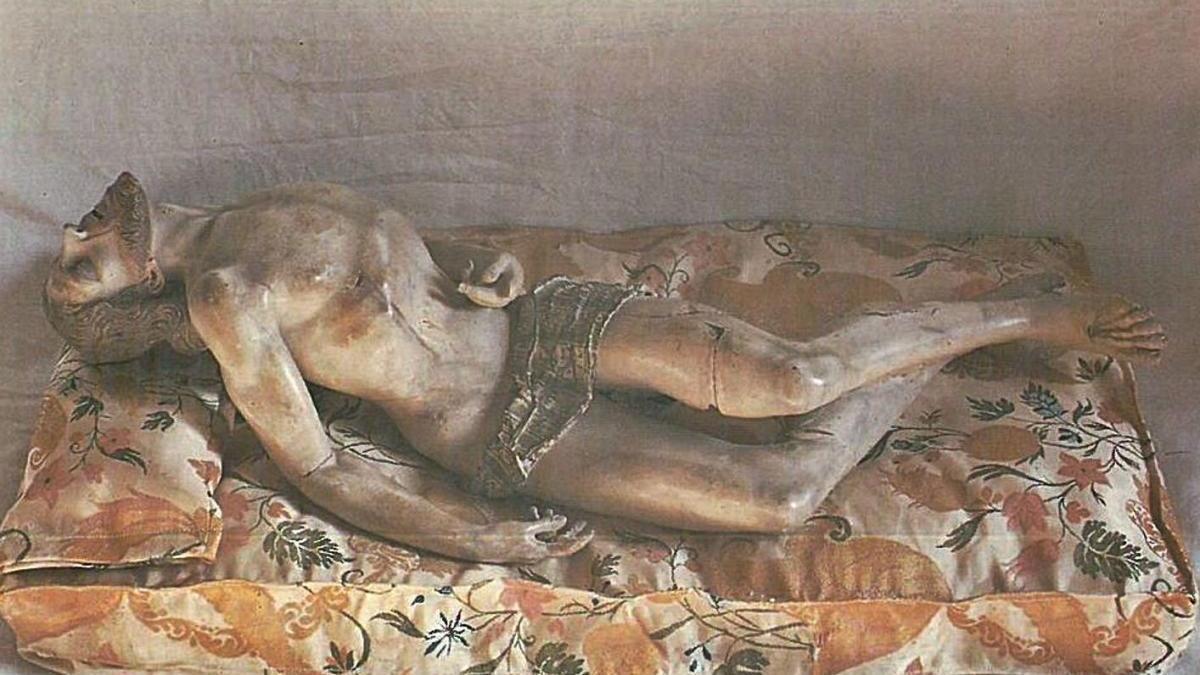 Cristo de marfil, una de las piezas de arte sacro que se encontraban en Mula.