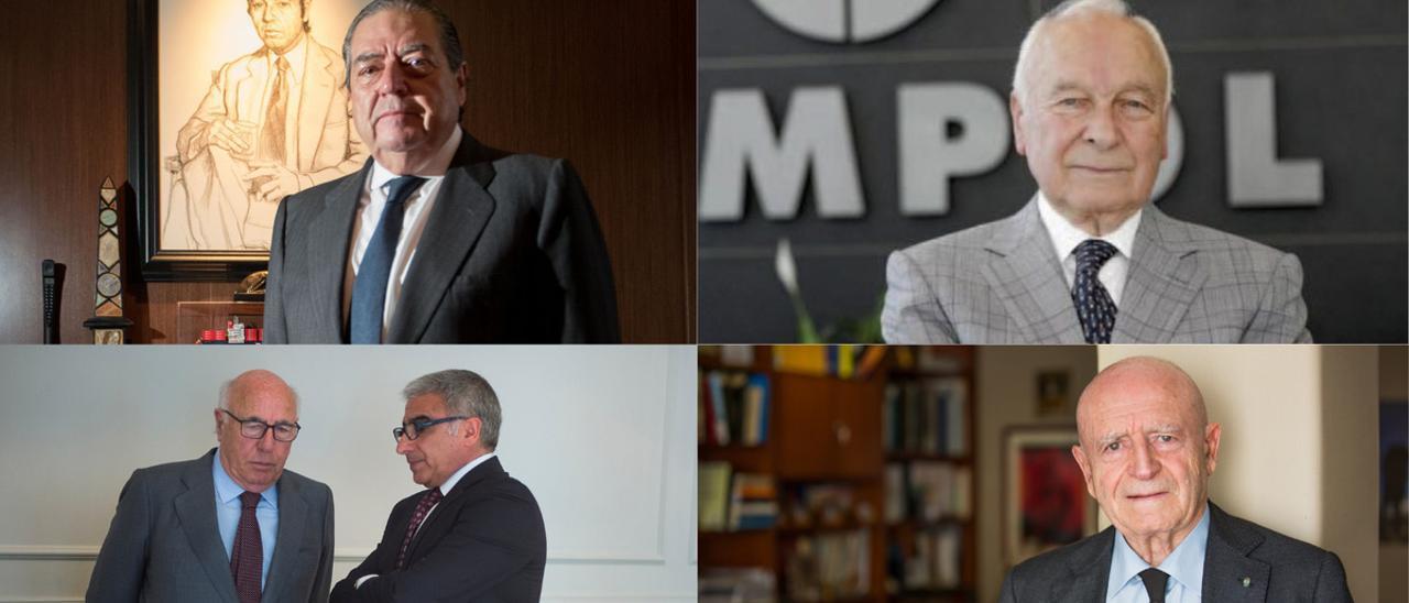 Los responsables de Boluda, Sampol, Molins, y el Grupo Matutes.