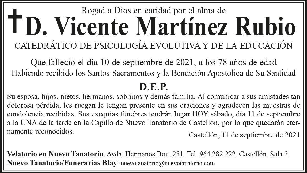 D. Vicente Martínez Rubio