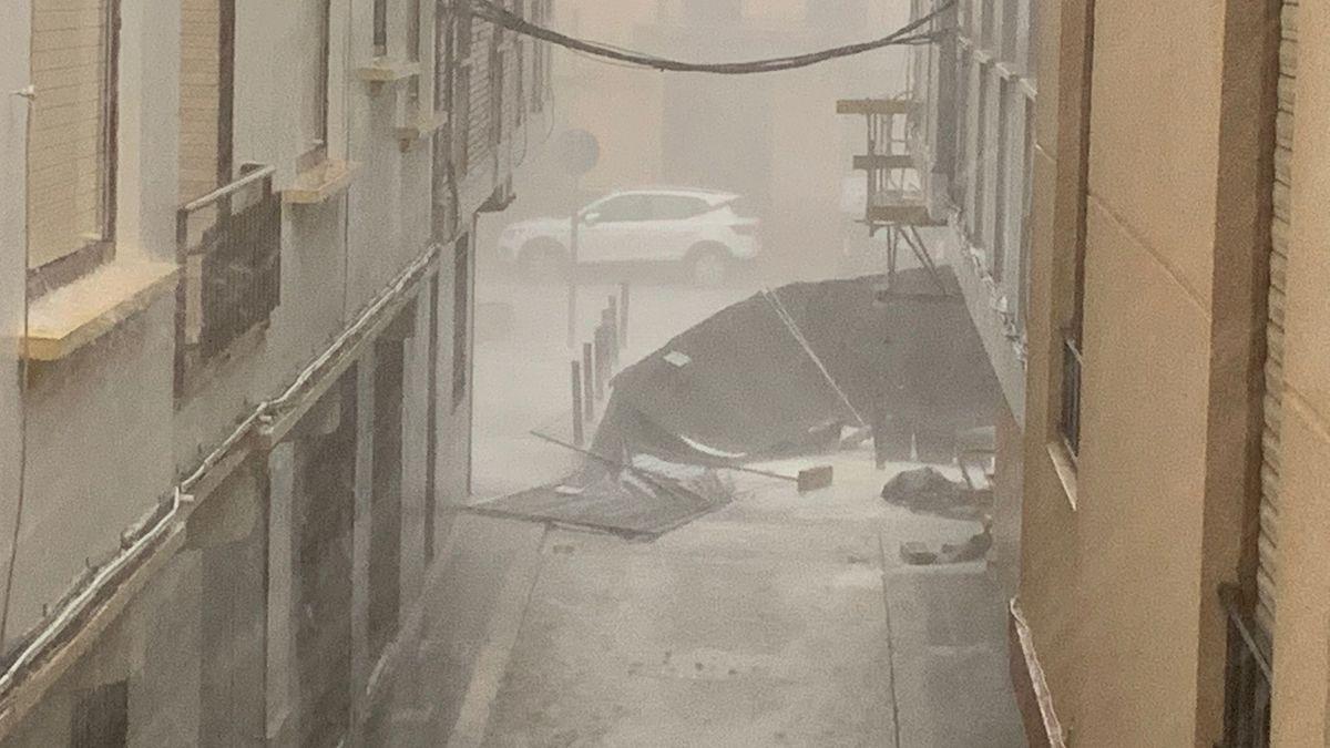 Las fotos de la espectacular granizada en Castelló