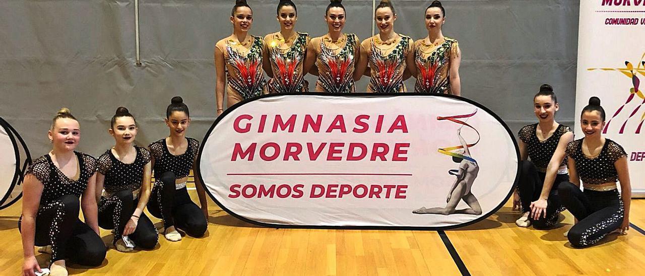 Participantes del Gimnasia Morvedre en el último trofeo online. | LEVANTE-EMV
