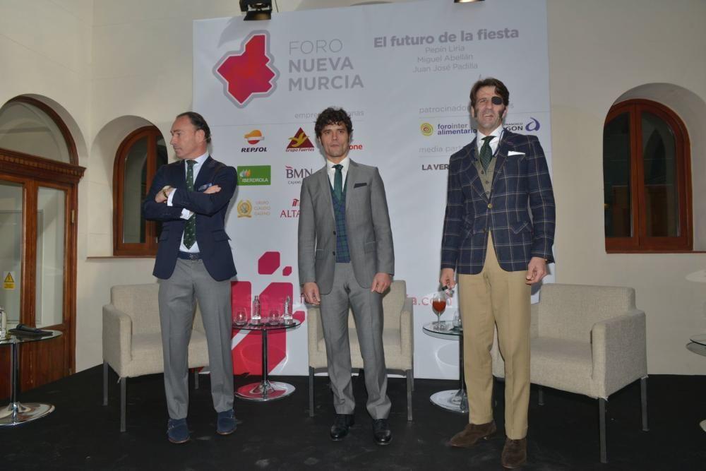 Tres toreros en el Foro Nueva Murcia