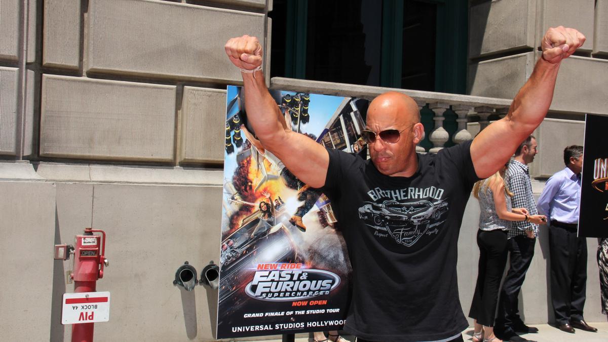 Vin Diesel, en una promoción de 'Fast & Furious'.