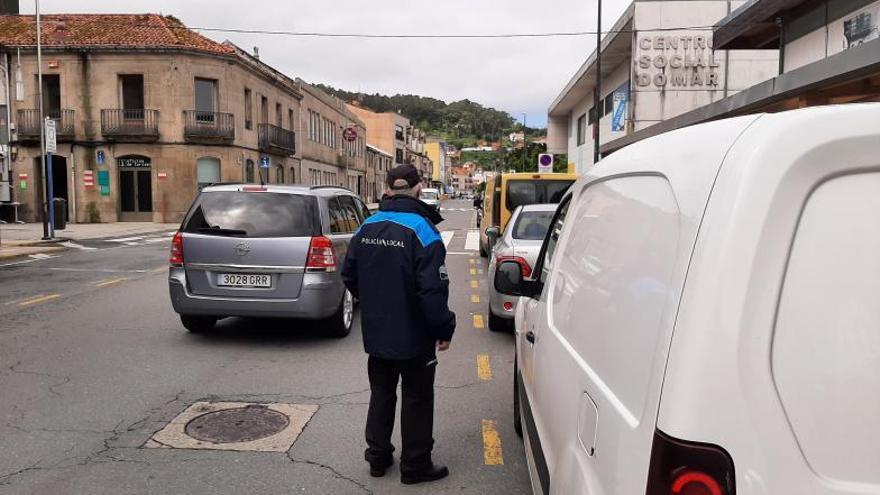 Frenazo a las multas de tráfico en Bueu