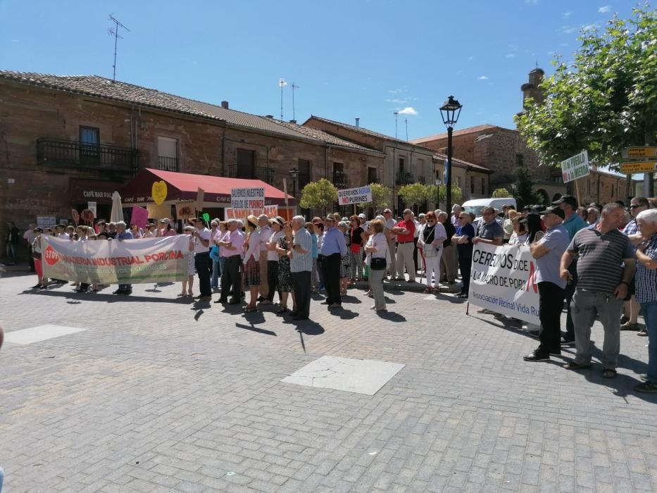 Concentración en Tábara contra las macrogranjas