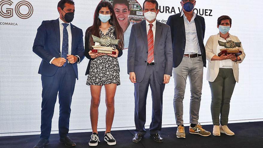 Laura Vázquez y David González, premiados como mejores promesa del año