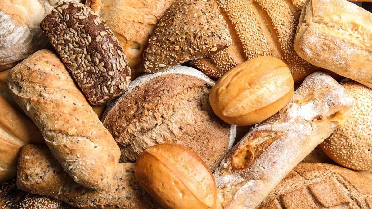 Diferentes tipos de pan.