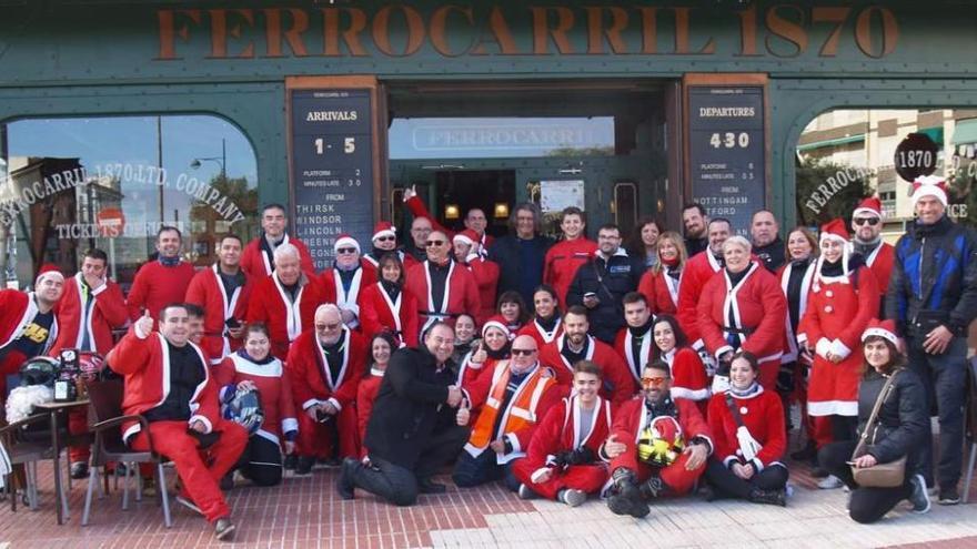 Caravana motera de Papa Noel en El Campello
