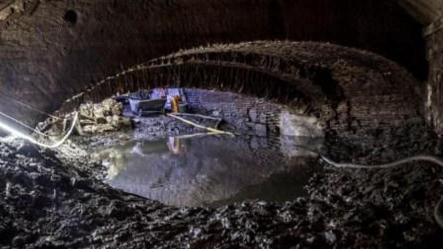 La mina de la Farinera de Castelló descobreix tot el seu esplendor arquitectònic