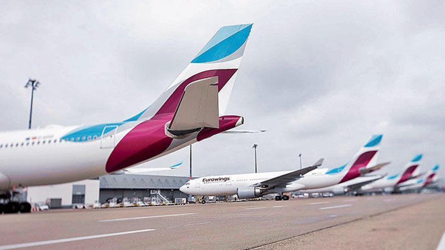 Mallorca-Airline Eurowings kommt inzwischen pünktlich an