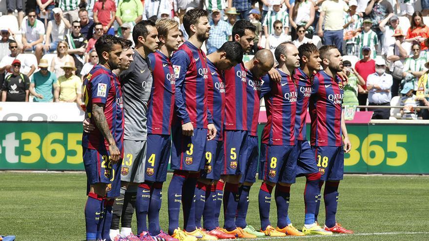 Mesi contra el Córdoba CF en el partido de liga de 2015