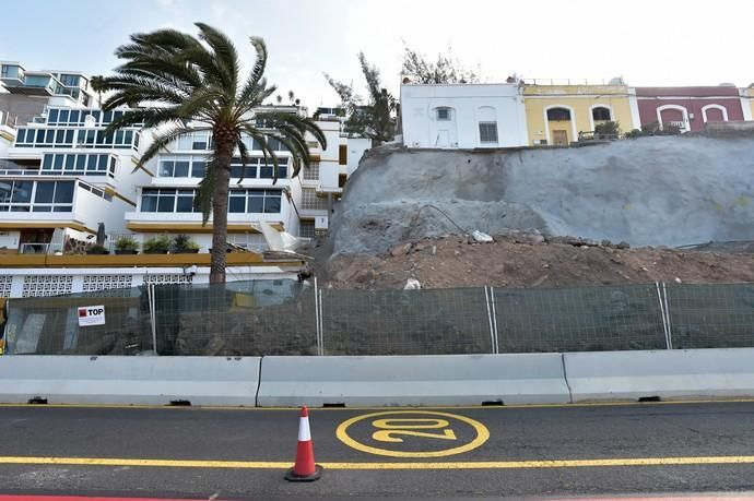 22-04-2019 LAS PALMAS DE GRAN CANARIA. Estado actual del derrumbe de Paseo de Chill    22/04/2019   Fotógrafo: Andrés Cruz
