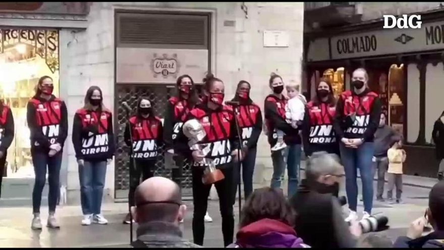 L'Spar Girona comparteix l'alegria de la Copa amb l'afició i la ciutat