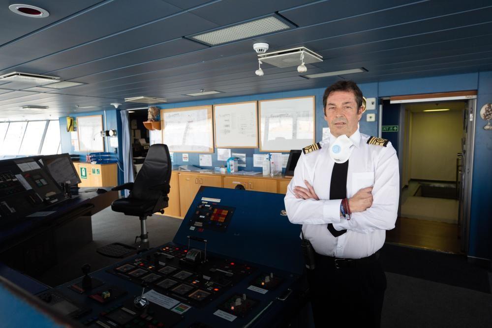 Diego Pérez-Milá Denis, capitán del Ferry 'Ciudad de Mahón' de Trasmediterránea