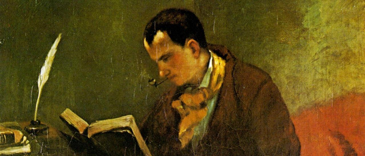 Baudelaire, pintado por Courbet (1847).